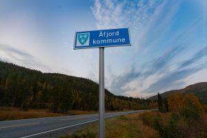 Åfjord kommunegrenseskilt